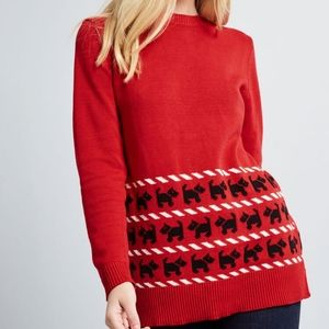 Modcloth Whimsically Warm Holiday Tunic Sweater S